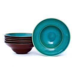 Pasta Bowl Twirl Laguna 23 cm - Set x6